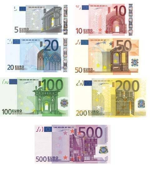 europe currency coins