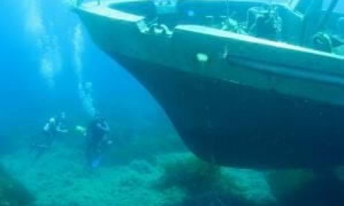 White star wreck diving site