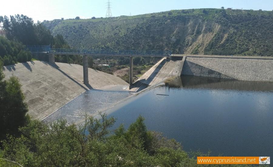 Polemidia Dam overflowing
