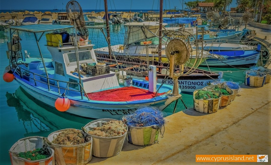 agia triada fishing port