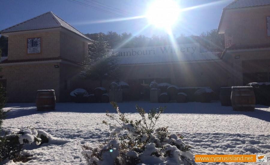 lambouri winery snow