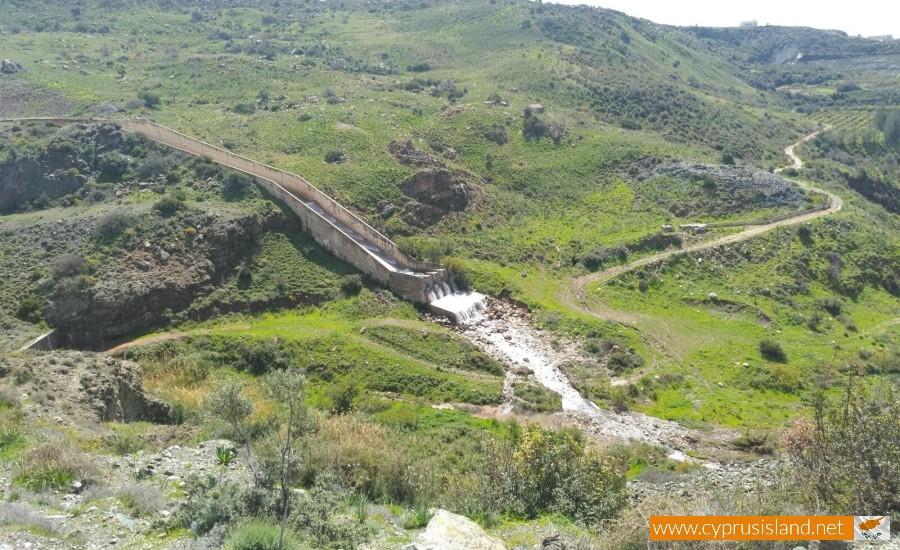 Mavrokolympos Dam Overflowing 1
