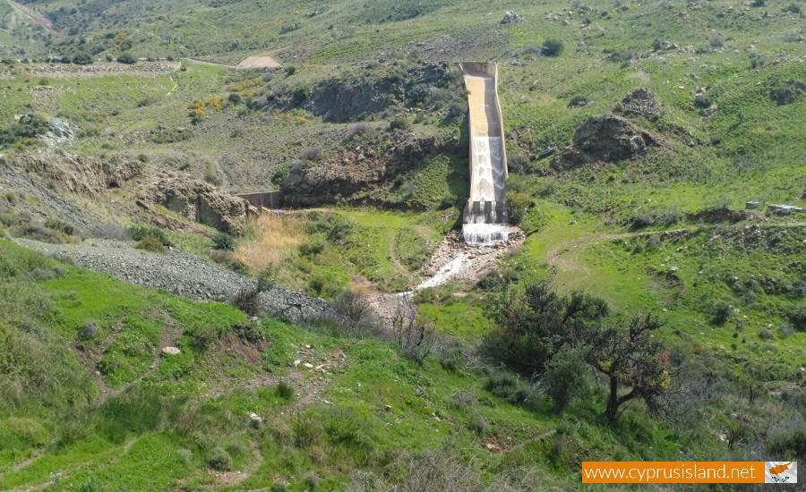 Mavrokolympos Dam Overflowing 2