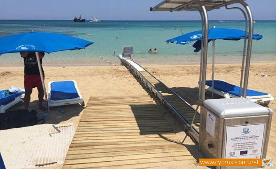 beach with wheelchair accessibility cyprus