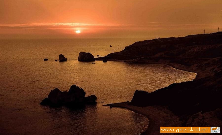 Sunset in Petra tou Romiou
