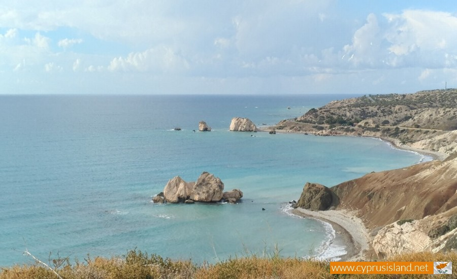 Petra tou Romiou from far away