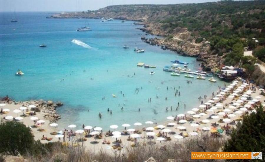 Karta Famagusta Cypern.Konnos Bay Cyprus Island