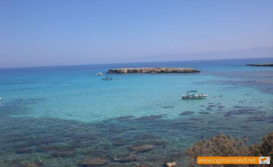 paphos blue lagoon sea