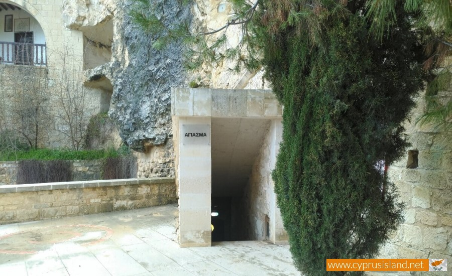 Agios Neophytos Monastery holy water entrance