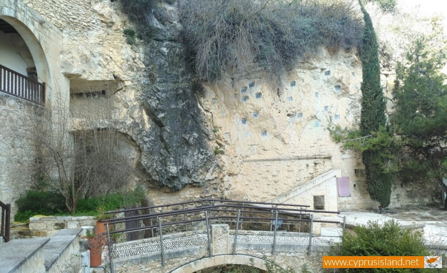 Agios Neophytos Monastery waterfall