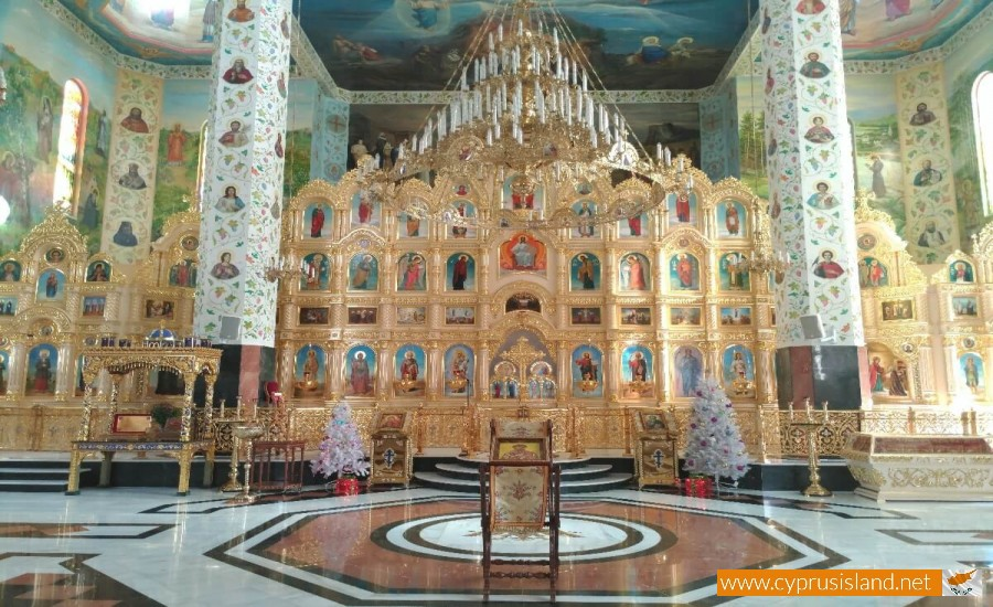 Apostolou Andrea Russian Church interior view 3
