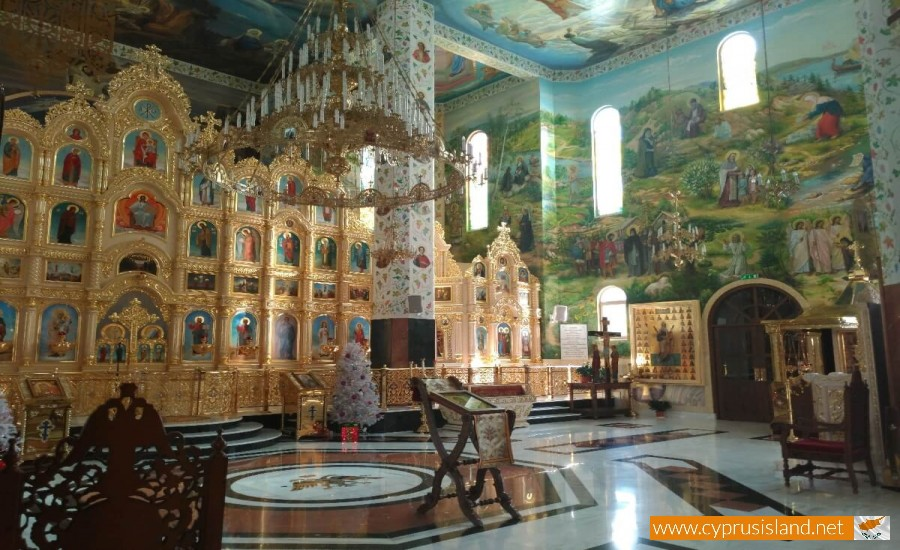 Apostolou Andrea Russian Church interior view 1