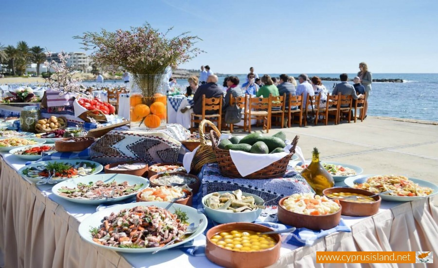 People in Cyprus enjoying lunch
